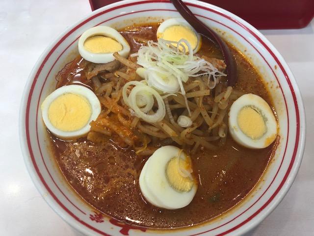 「蒙古タンメン中本 草加店」で味噌卵麺を完食してきた