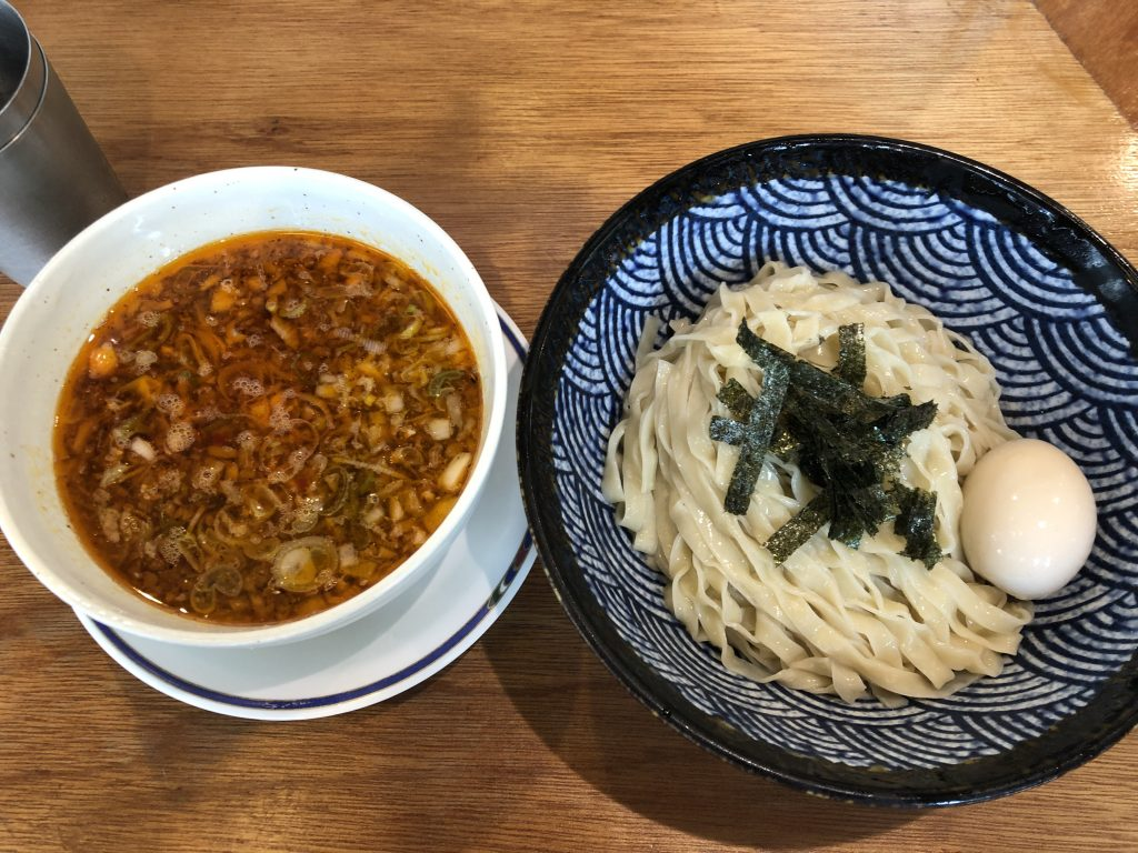 台湾つけ麺を食べる!「肉うどん さんすけ」(名古屋・丸の内)